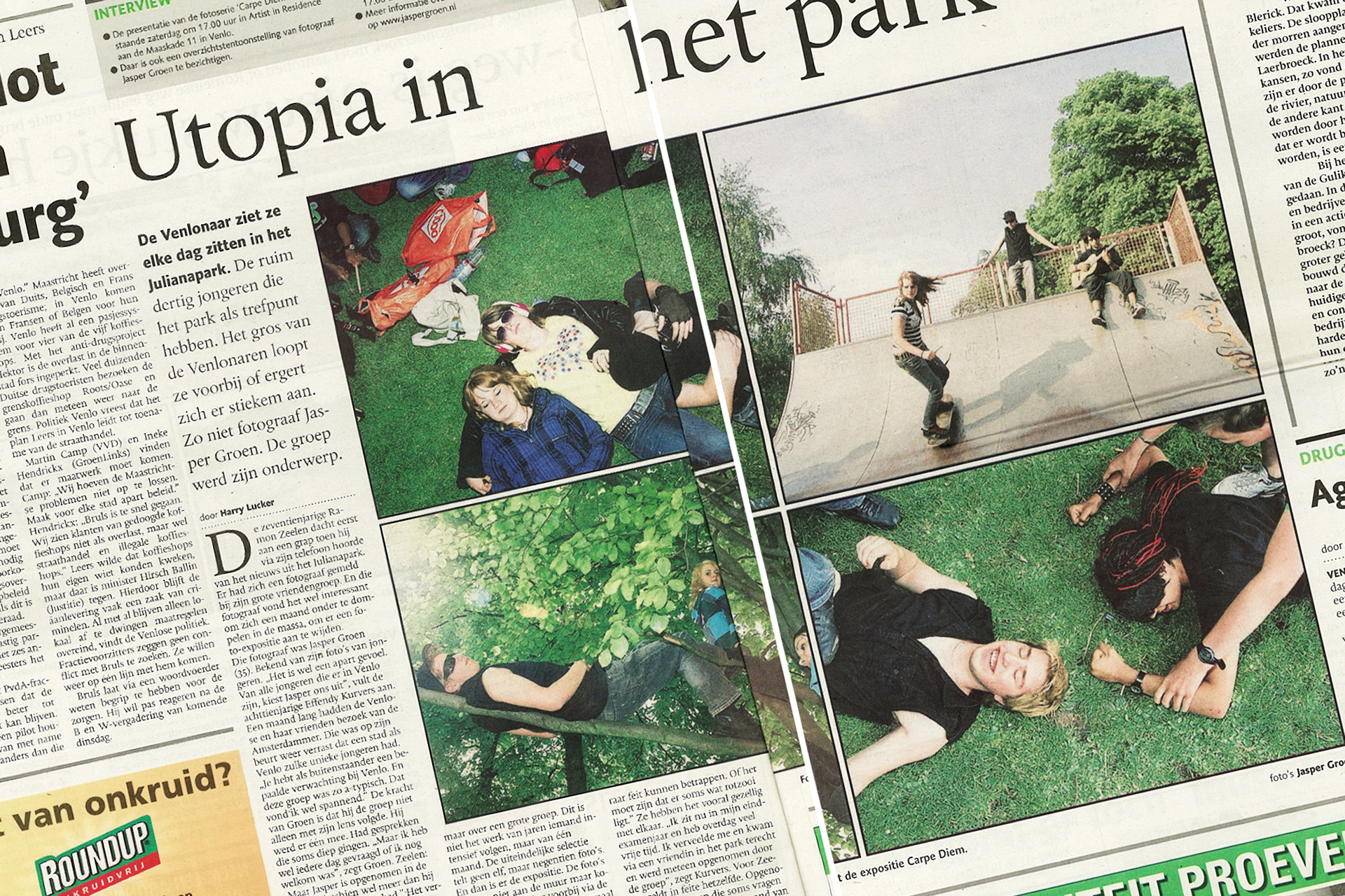 May 2009: Article Dagblad De Limburger.