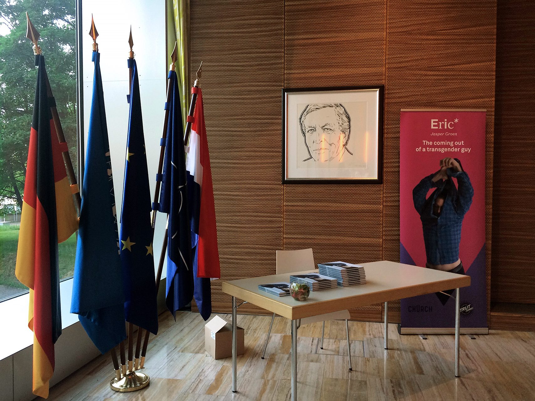 May 2018: book presentation 'Eric*' in the Royal Dutch embassy, Berlin.